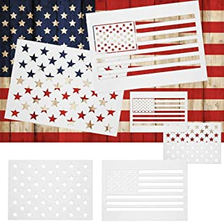 50 Star Stencil Templates American Flag Mold Spray Painting Templates on Wood, Fabric, Paper, Glass Wall Art Reusable Starfield Stencil