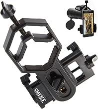 Universal Smartphone Adapter + Phone Tripod Mount - Compatible with Cell Phone iPnone Monocular Binocular Microscope Telescope - Easy Photo Shot