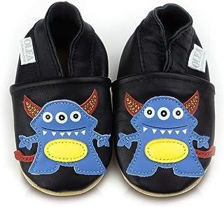 Chaussures bébé en cuir souple Monster 0-6 mois