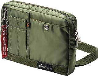 [アルファインダストリーズ] ショルダーバッグ サコッシュ ポケット充実 MA-1生地 取り外し可能ベルト インナーケース