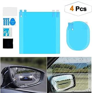 4pcs Car Rear view Mirror Film, HD Anti-Fog Rainproof Waterproof Mirror Window Clear Sticker, Anti-Mist Film Protector Safety Driving Guard Rear View Mirror Film for Car Mirrors and Side Windows