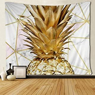 SARA NELL Tapestry Rose Gold Geometric Gold Pineapple Tapestries Wall Hanging Throw Tablecloth 50X60 Inches Bedroom Living Room Dorm Room