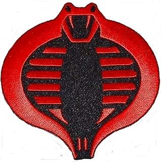 G I Joe Black and Red Cobra Iron on Patch