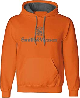 S&W Traditional Logo Pullover Hoodie in Antique Harvest - Officially Licensed
