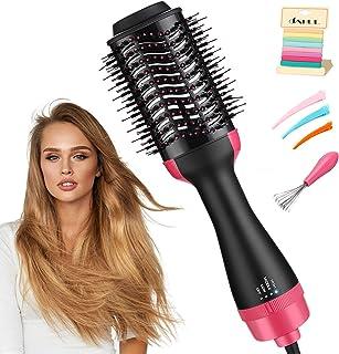 سشوار و استایلر یک مرحله ای ، برس خشک کن مو ، برس 3 در 1 هوای گرم - سشوار منفی یونی ، صاف کننده