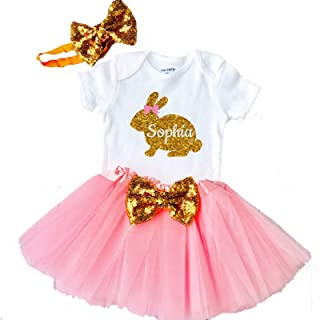 e54585991376 Funmunchkins Girls Easter Outfit Baby Girl Easter Tutu 1st Easter  Personalized with Name