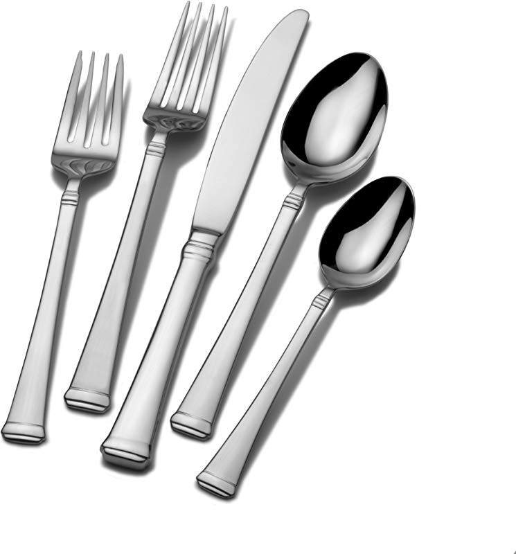 Mikasa 5060761 Harmony 65 Piece 18 10 Stainless Steel Flatware Set With Serving Utensil Set
