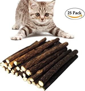 Bwogue猫がチクマハッカおもちゃの天然またたび噛み歯研削トイ棒25の猫のおもちゃを噛んでニップパック