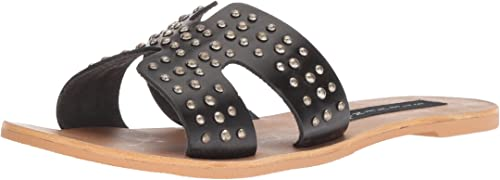 STEVEN by Steve Madden Wohommes Greece-S Sandal, noir Leather, 9.5 M US