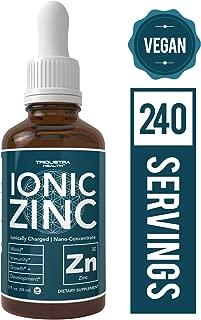Zinc Supplement – 10x Maximum Absorption (240 Servings) | Ionically Charged Zinc, Nano-Concentrate & Essential Co-Factors – Liquid Zinc Sulfate Form Plus Ionic Zinc Copper Co-Factor