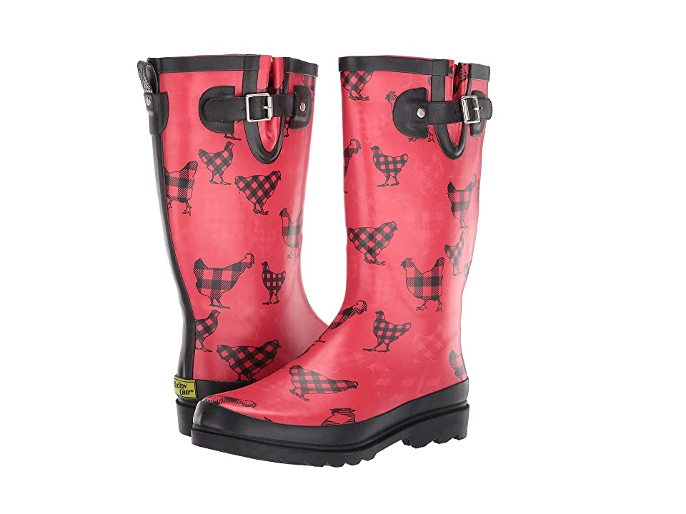 Western Chief Buffalo Chicken Rain Boot (Red) Women