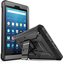 Fire HD 8 2017 Case, SUPCASE Unicorn Beetle PRO Series [Heavy Duty] Rugged Protective Cover with Built-in Screen Protector Case for Amazon Fire HD 8 Tablet (7th Generation) 2017 Release (Black/Black)