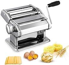 Sailnovo Machine à Pâtes Laminoir à Pâtes en Acier Inoxydable pour Tagliatelle/Spaghettis/Lasagnes/Ravioles (V1)