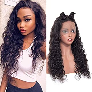 ISEE Hair Water Wave Lace Front Wigs Unprocessed Brazilian Virgin Human Hair Wig Pre Plucked Natural with Baby Hair Wig for Black Women 150% Density (22 inch 13X4 Lace Front Wig)
