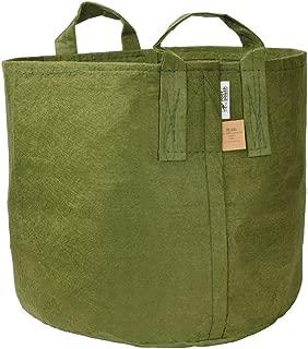 Root Pouch Non-Degradable Reusable Grow Bag, 15-gallon with Handles (Green)