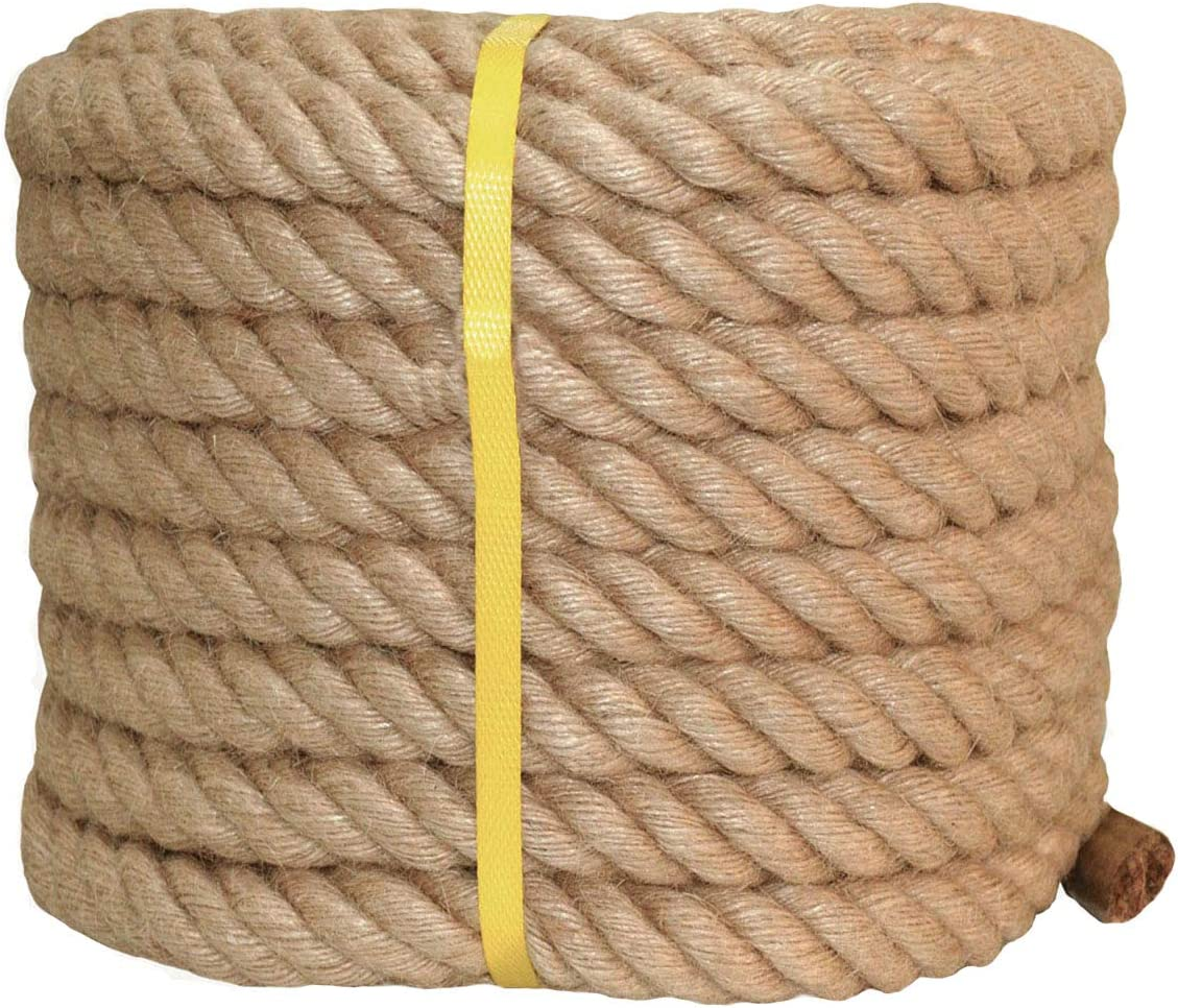 Twisted Manila Rope Jute 1 in Our shop OFFers the best service 50 Hemp Thick Regular store Natural x ft