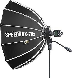 SPEEDBOX-70s - Professional 27-Inch (70cm) Rigid Quick Folding Hexagonal Softbox with Speed Bracket for Altura, Neewer, YO...