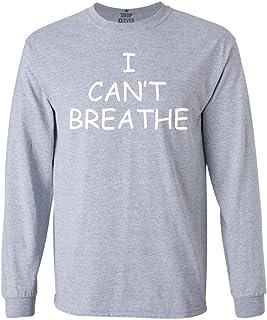 Shop4Ever ® no Puedo Respirar de Manga Larga Camiseta Eric Garner Camisas