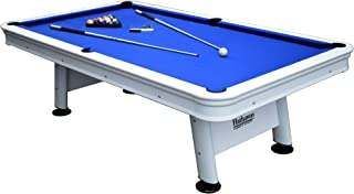 Hathaway Alpine 8-ft Outdoor Pool Table with Aluminum Frame and Waterproof, UV-Resistant Felt - Includes Accessories, White