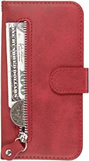 OMATENTI iPhone 11 Pro Max 6.5 ケース, 軽量 PUレザー 薄型 簡約風 人気カバー バックケース iPhone 11 Pro Max 6.5 用 Case Cover, 液晶保護 カード収納, 財布とコインポケット付き, 赤