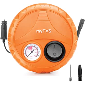 myTVS Car Tyre Inflator Portable Air Compressor Pressure Pump with 2 Year Warranty (TI-2 Car Inflator 80 Psi)