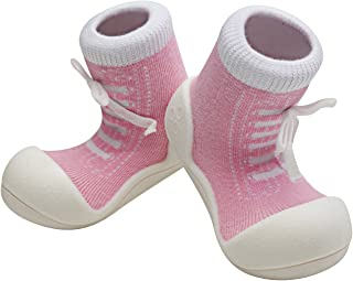 Attipas Sneaker Baby Walker Shoes, Pink, Medium