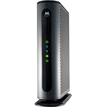Motorola MB8600 DOCSIS 3.1 Cable Modem, 6 Gbps Max Speed. Approved for Comcast Xfinity Gigabit, Cox Gigablast, and More, Black