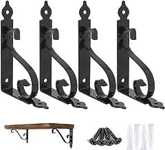Ouvin Decoratieve wandplank beugels 4 Pack 8 inch Heavy Duty L Hoek Brace Plank Ondersteuning Drijvende Metalen Beugels me...