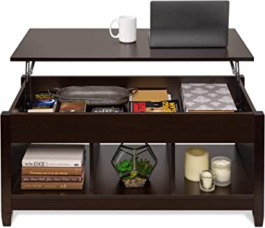 Best Choice Products Wooden Lift Top Coffee Table, Multifunctional Accent Furniture for Living Room, Décor w/Hidden Storage,