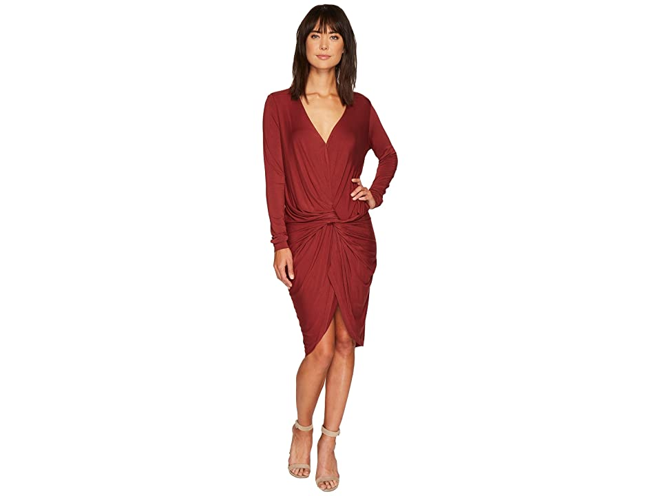 Young Fabulous & Broke Captive Dress (Rust Solid) Women