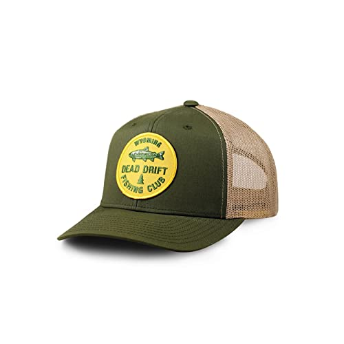 4e5c7c1a669b4 Dead Drift Fly Fishing Hat Fishing Club Snap Back Trucker by Fly