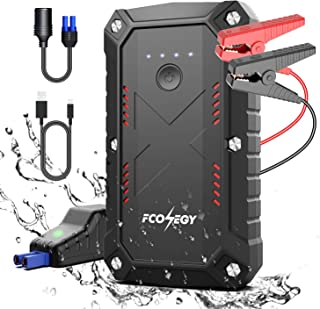 Battery Starter for Car, Fconegy 2200A Peak 25000mAh Portable Car Jump Starter with USB Quick Charger, Type-C and Smart Safety Jumper Clamps (up to 8.0L car 7.0LDiesel Engines)