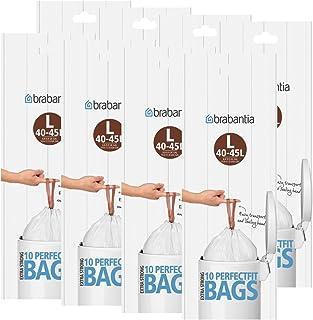 Brabantia bolsas de basura Smartfix (L) 40–45L, 10bolsas de basura–Ventilación facilitan el einsetzen especial de la basura Sacks–Ajuste Perfecto en su Brabantia Papelera (8unidades)