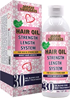 Jadole Naturals Hair Oil for Hair Growth Treatment Strength Length System, Blend of Onion Oil, Argan Oil and 30 Essential ...