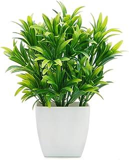 OFFIDIX Plantas Artificiales Mini Plantas de plástico con