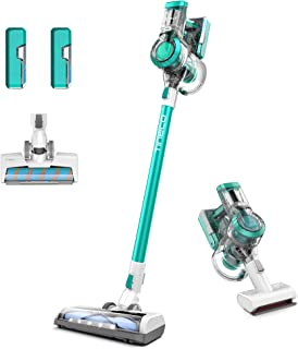 Tineco A11 ProEX Cordless Stick Vacuum Cleaner,120W Powerful Suction with 2 LED Professional Brushes and 2 Detachable Batt...