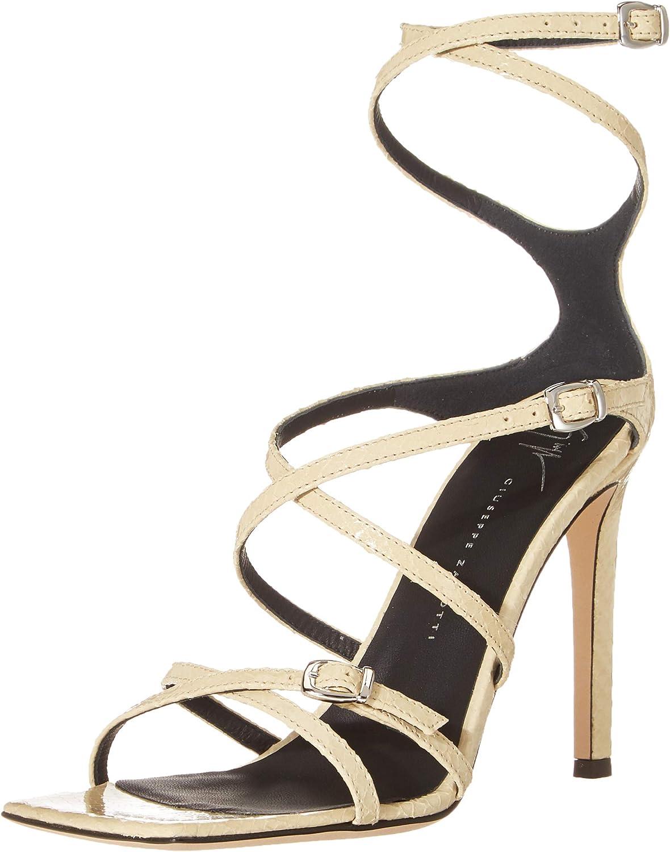 Giuseppe Zanotti Women's E100019 Square Toe Stiletto Heeled Sandal