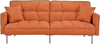 Divano Roma Furniture Modern Adjustable, Small, Orange