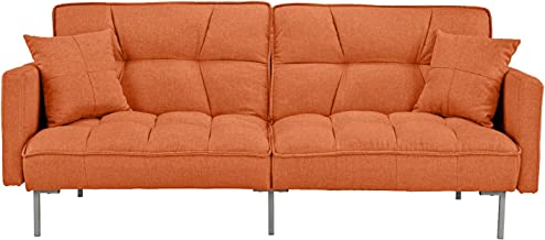 Divano Roma Furniture Modern Adjustable, Small, Orange