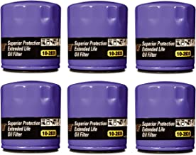 Royal Purple 10-2835 Set of 6 Extended Life Oil Filters with Silicone Anti-Drain Back Valve