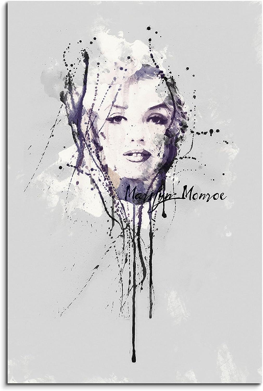 Paul Sinus Art Art Art Marilyn Monroe II 90x 60cm Keilrahmenbild Kunstbild Aquarell Art Wandbild auf Leinwand fertig gerahmt Original Unikat B00WWTRHSU 164e17
