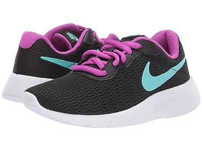 Nike Kids Tanjun (Little Kid) (Black/Aurora Green/Hyper Violet) Girls Shoes