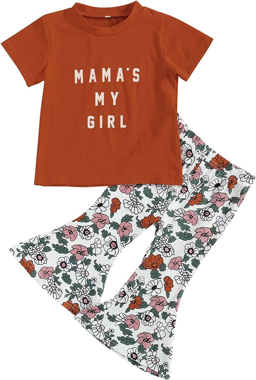 Toddler Baby Girls Sleeveless suspenderT-Shirt 2021 model Floral F Printing favorite