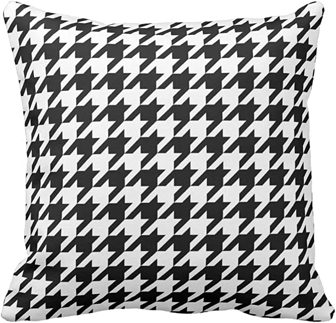 Tshirts Online Black And White Houndstooth Pattern Pillow Cover Throw Pillowcase Square Throw Pillow Cover Cushion Decorative Home Kitchen Amazon Com