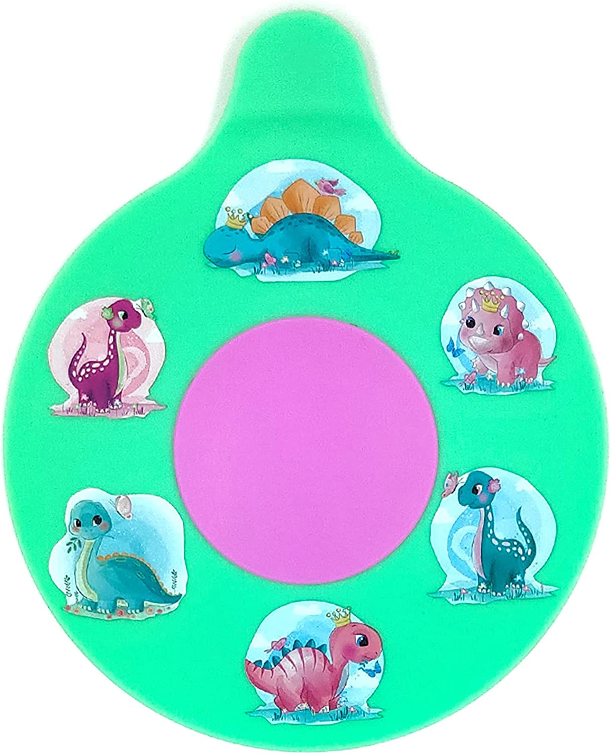 ConvEzy Bathtub Drain Stopper for Kids, Adorable Tub Drain Stopper Plug, Kids Tots Babies Gift Idea, Fun and Happy Bathing Experience, Safe, Soft Silicone (Dinosaurs Cute Crown Collection)