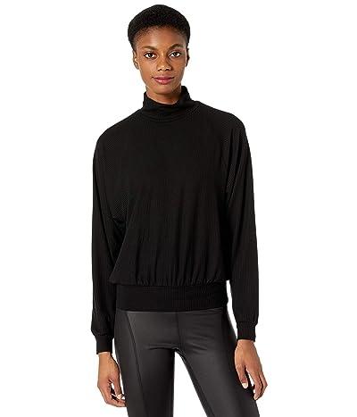 YEAR OF OURS Jane Mock Neck Sweatshirt (Black) Women