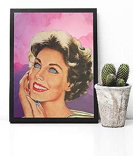 Trippy Retro Wall Art - Soft Grunge Vaporwave Aesthetic - Pastel Aesthetic - Trippy Room Decor - Dorm Poster - Dorm Wall art - Dorm Decor - Bedroom Decor Vintage - Retro Wall Art - Tumblr Room Decor