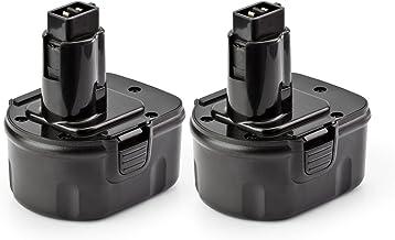 2 Pack ExpertPower 12v 1500mAh NiCd Battery for Dewalt DC9071 DW9072 DW9071 DE9075 DE9074..