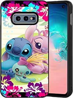 DISNEY COLLECTION Matte Edge Phone Shell Case Fit for Galaxy S10e (2019) (5.8 Inch) Lilo Stitch Angel Scrump
