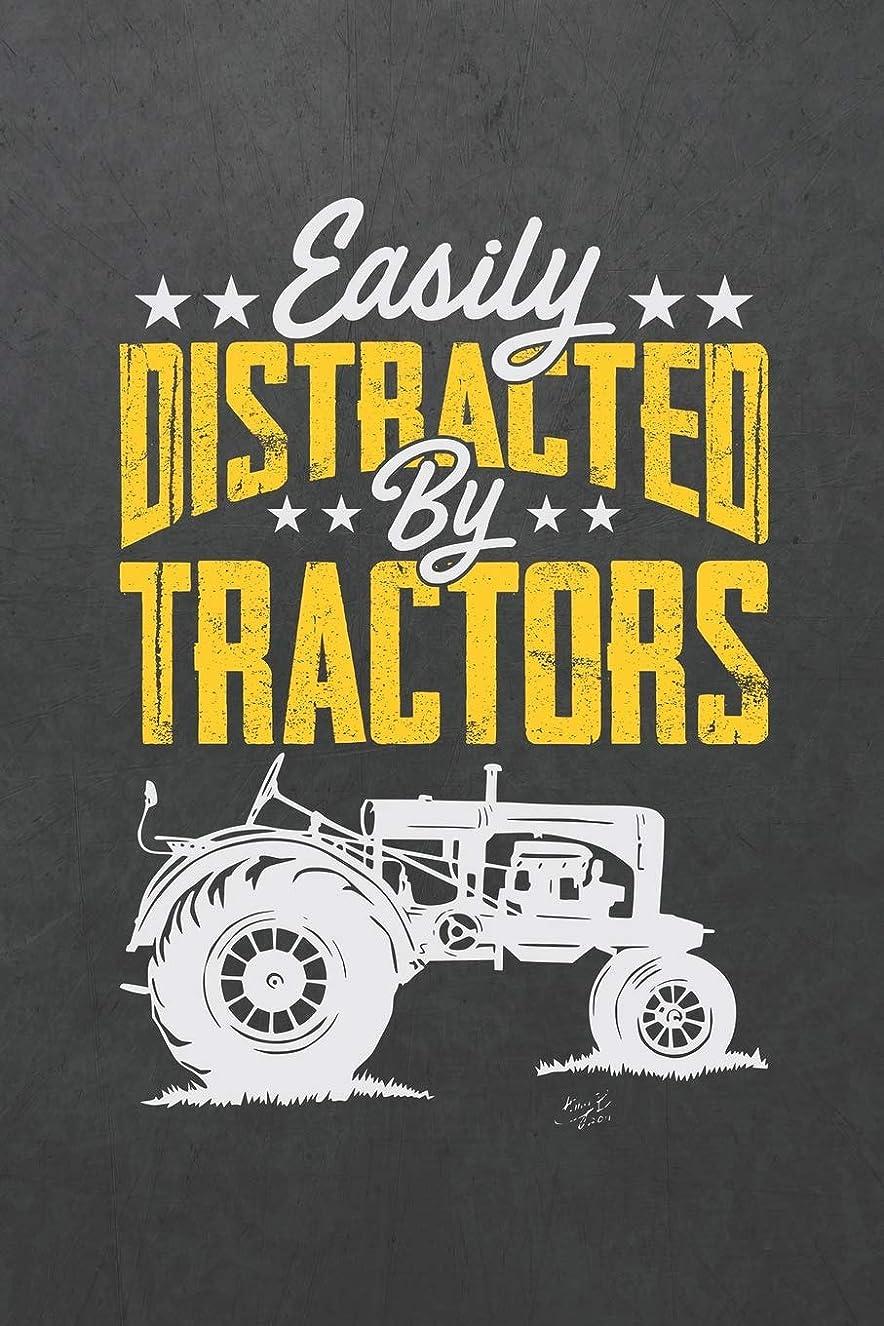 ネックレット吸う弾丸Easily Distracted By Tractors: ~ Blank Wide Ruled with Line for Date Notebooks and Journals (Farm and Tractors Novelty Cover Edition)